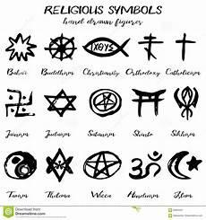 symboles religieux grunges de vecteur tir 233 par la
