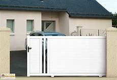 portail coulissant pvc portail coulissant pvc blanc 3 5m hyp 233 rion maine cl 244 tures