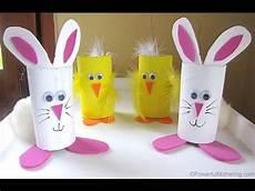 basteln mit klopapierrollen ostern 3 easy easter bunny diy recycled toilet paper roll