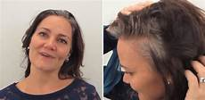dramatic long hair cut short makeover by christopher 41 year old gets makeover that showcases her grey hair