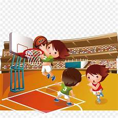 Basket Kartun Olahraga Gambar Png