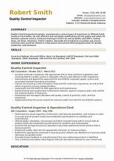 resume objective exles quality control quality control inspector resume sles qwikresume