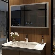 badspiegel mit led wandspiegel badspiegel led mit beleuchtung 100x60cm touch