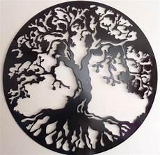 tree of life 75 cm 29 5 wall decor metal art black