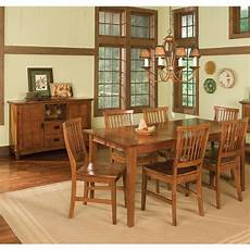 shop arts and crafts 7 piece rectangular dining by