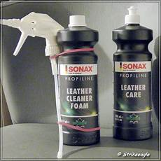 sonax profiline lederpflege leather cleaner foam und