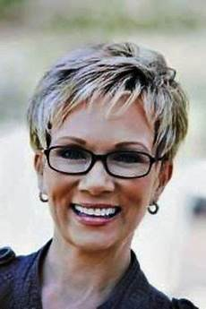 short hairstyles for women over 60 with glasses latest
