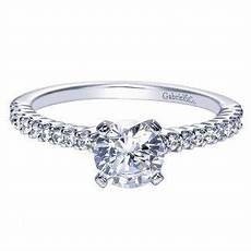 engagement ring 14k white gold diamond straight with