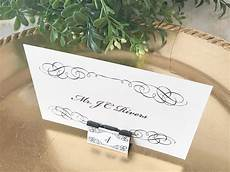 diy wedding card printing diy elegant binder clip wedding place cards
