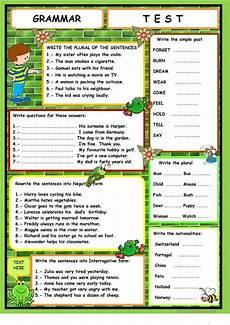 grammar worksheets elementary 18268 grammar test worksheet free esl printable worksheets made by teachers