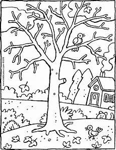 Winter Malvorlagen Ein Baum Im Winter Kiddimalseite
