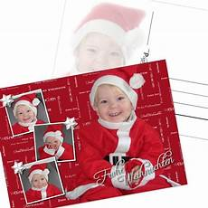 weihnachtskarten mit foto gestalten und drucken