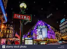 chaussée d antin metro metro station chauss 233 e d antin la fayette and galeries lafayette on stock photo royalty free