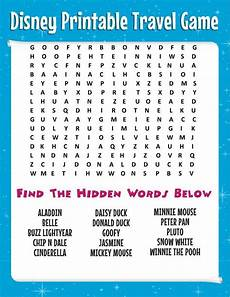 road trip tips bring this free disney word search more printable travel games for kids