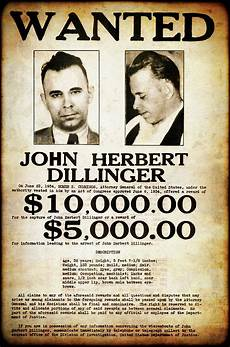 enemy no 1 dillinger enemy no 1 wanted poster 1934 photograph