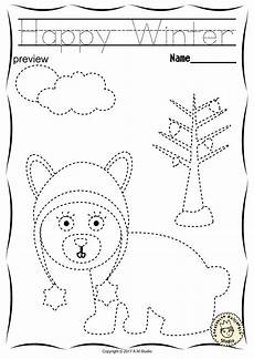 handwriting worksheets for motor skills 20666 winter trace and color pages motor skills pre writing tracing letters motor