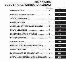 toyota yaris 2007 electrical wiring diagram auto repair manual heavy equipment