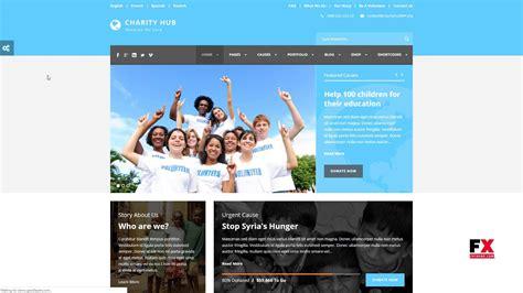 charity hub charity nonprofit fundraising wp