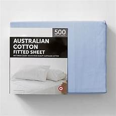 target 500 thread count australian cotton fitted sheet blue target australia