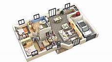 plan d intérieur de maison plan interieur maison plain pied l impression 3d