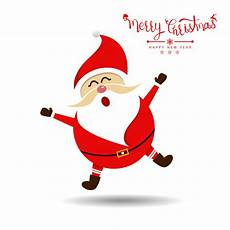 merry christmas with santa claus vector illustration vector premium download