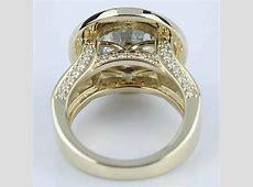 Halo Bezel Diamond Engagement Ring (6 Carat)