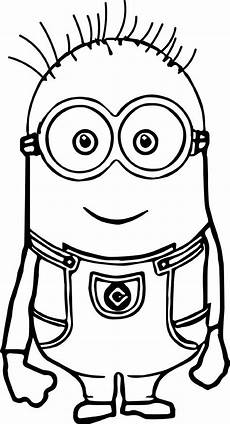minion coloring pages tom in 2020 minion coloring pages