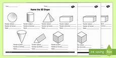 3d shapes worksheet early years 1107 name the 3d shape worksheet worksheet made