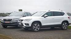 Vergleich Seat Ateca Skoda Karoq - vw t roc 2017 autobild de