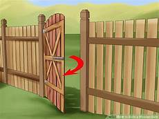 zauntor selber bauen how to build a wooden gate 13 steps with pictures wikihow