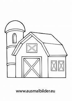 ausmalbild silo und scheune ausmalen bauernhof