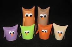basteln mit klopapierrollen derosier my creative toilet paper roll owls