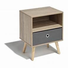 table de chevet miliboo 103257 table de chevet bilbao naturelle 1 tiroir et 1 niche table de chevet chambre meuble gifi
