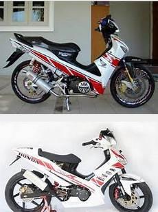 Modif Supra Fit Standar by Foto Gambar Modifikasi Motor Honda Supra X 125 Supra Fit