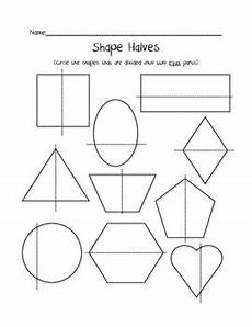 shapes in half worksheets 1140 shape halves freebie by harris teachers pay teachers