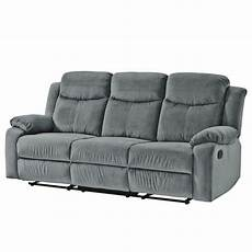 microfaser couch sofa polz 3 sitzer microfaser home24 at