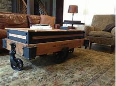 Cart Style Coffee Table made coffee table drink cart pub table 3 in 1 by