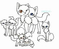 cat family free lineart ms paint friendly by xxask