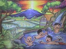 Lukisan Alam Krayon Koleksi Gambar Hd