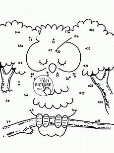 owl connect the dots coloring pages for kids dot to dots printables free wuppsy com