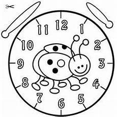 Kinder Malvorlagen Uhr Zifferblatt Vorlage Ausdrucken Arbeitsmaterialien