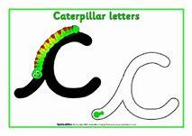 Image result for cursive caterpillar image