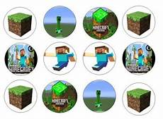 minecraft edible cupcake toppers 12 for sale in dalkey dublin from flour power