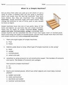 free what is a simple machine worksheet introduce your elementary students to the six simple