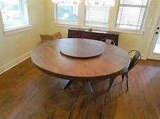 Kitchen Table With Lazy Susan by Buy A Made White Oak 72 Quot Dining Table With Lazy