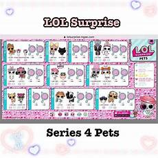 Lol Malvorlagen List Series 4 Lol Checklist Pets Lolsurprisepets