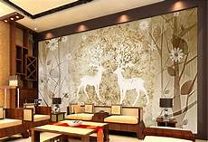 Customize 3d Wallpaper Walls Elk Forest Abstract Wall