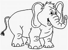 Mewarnai Gambar Gajah Alamendah S