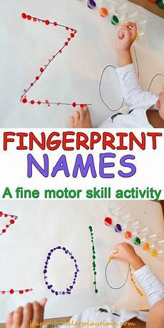 5 hand print activities to do with your 1 year old fingerprint names preschool learning activities