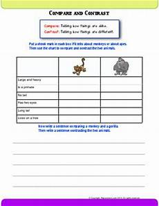 compare and contrast second grade english worksheets biglearners